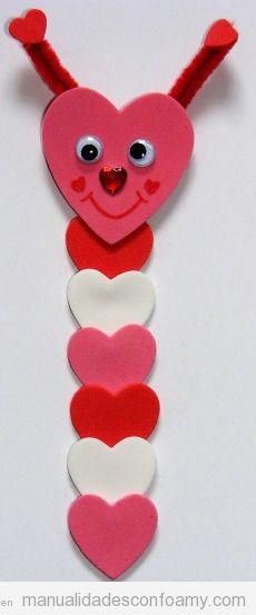 San valentin archivos manualidades con foamy - Manualidades para hacer en san valentin ...