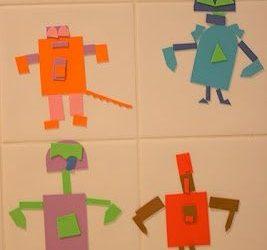Robots de foamy para el baño de los niños