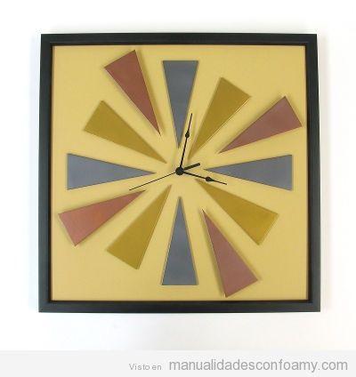 Reloj original de foamy o goma eva