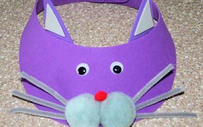 Visera de foamy con forma de gato
