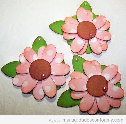 Flores goma eva archivos manualidades con foamy - Pinturas para goma eva ...