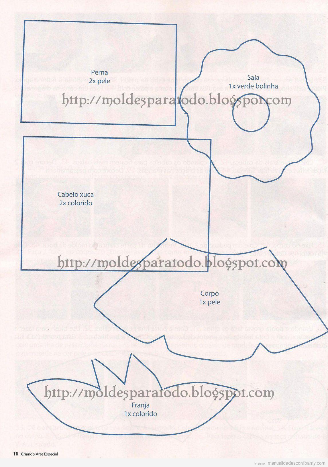 Plantilla fofucha archivos manualidades con foamy - Almazuelas patrones gratis ...