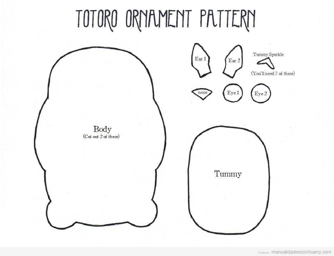 Mi vecino Totoro en foamy, plantilla para descargar • Manualidades ...