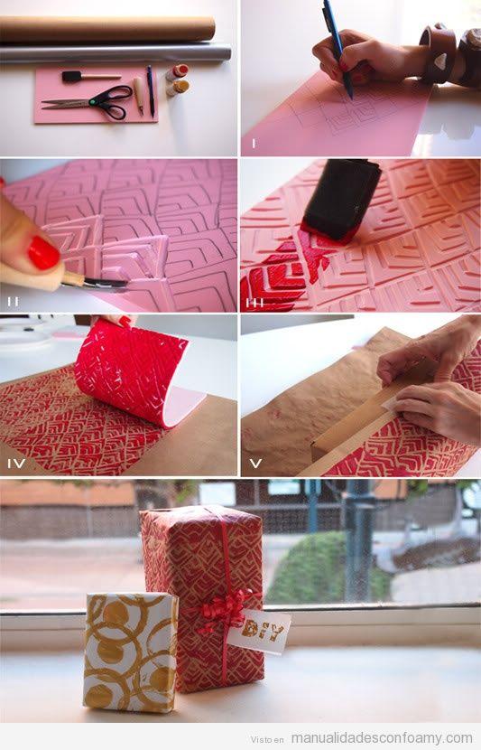 Tutorial para tallar una cenefa en foamy y estampar en - Cenefas de papel ...