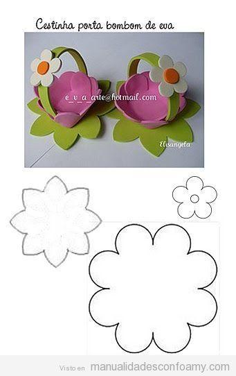 Moldes Para Flores De Eva