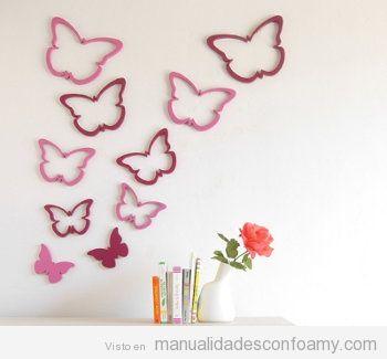 Pared manualidades con foamy manualidades de goma eva - Manualidades para decorar paredes ...