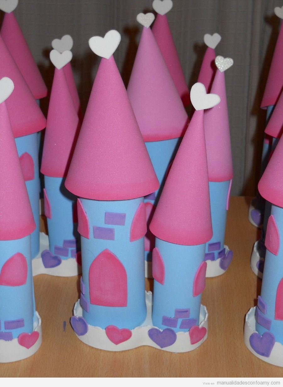 Castillo de princesas en goma eva | Manualidades con Foamy | Fotos ...