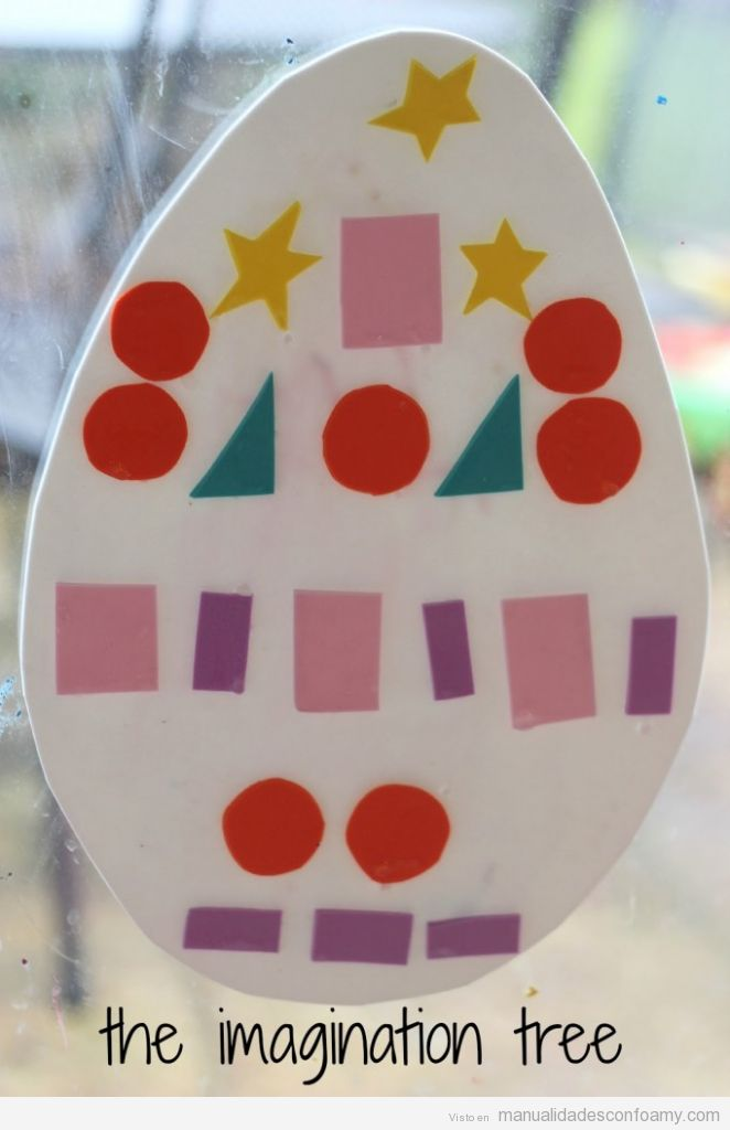Manualidades en goma Eva para niños, Huevo de Pascua