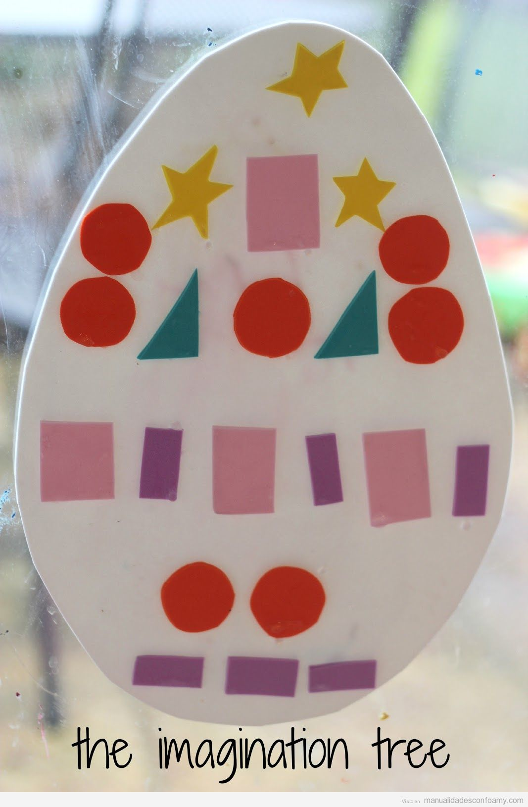 Decorating Foam Easter Eggs