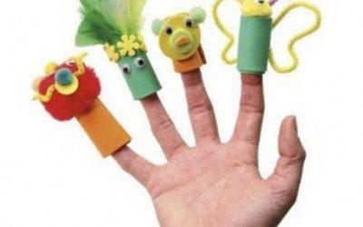 Marionetas de dedo hechas con goma eva