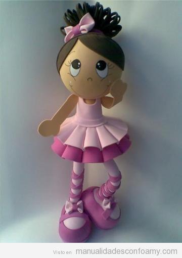 Muñeca Fofucha, bailarina de ballet con plantilla para descargar