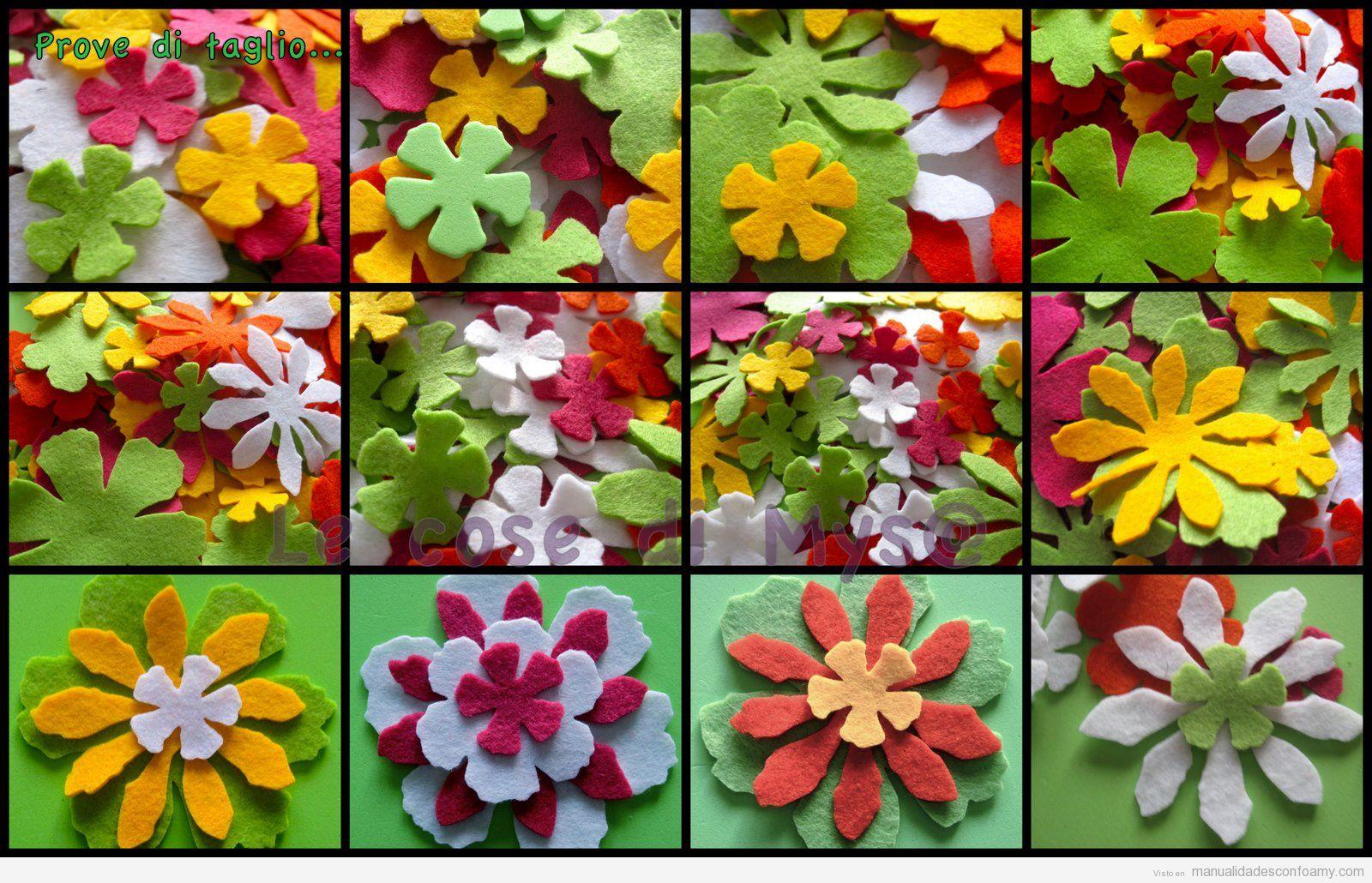 Manualidades Con Flores De Foamy