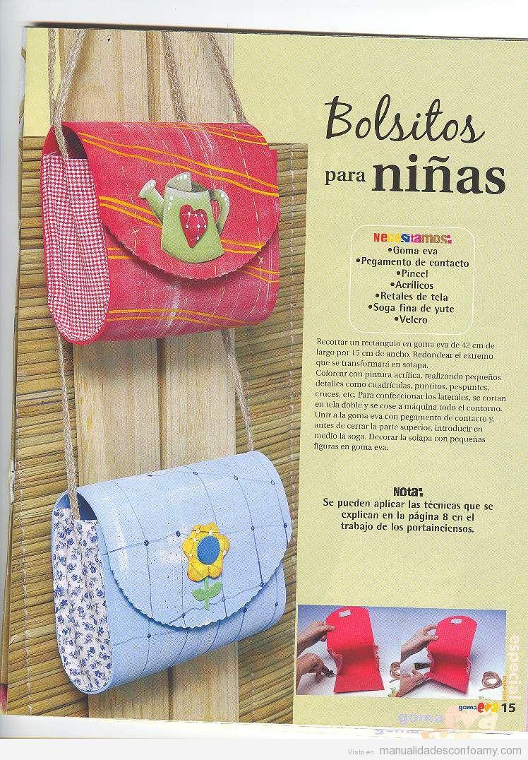 moldes para hacer bolsos de tela para niñas