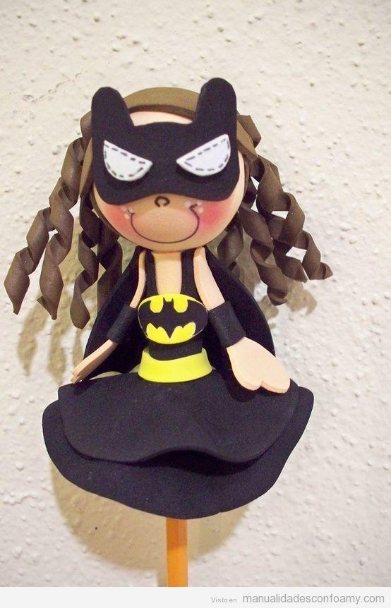 Fofucha de Batgirl para tope de lápiz