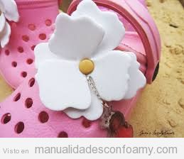 Flor de goma eva, magnolia