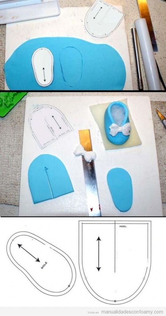... paso y a este molde podemos hacer zapatos de goma eva para muñecas de