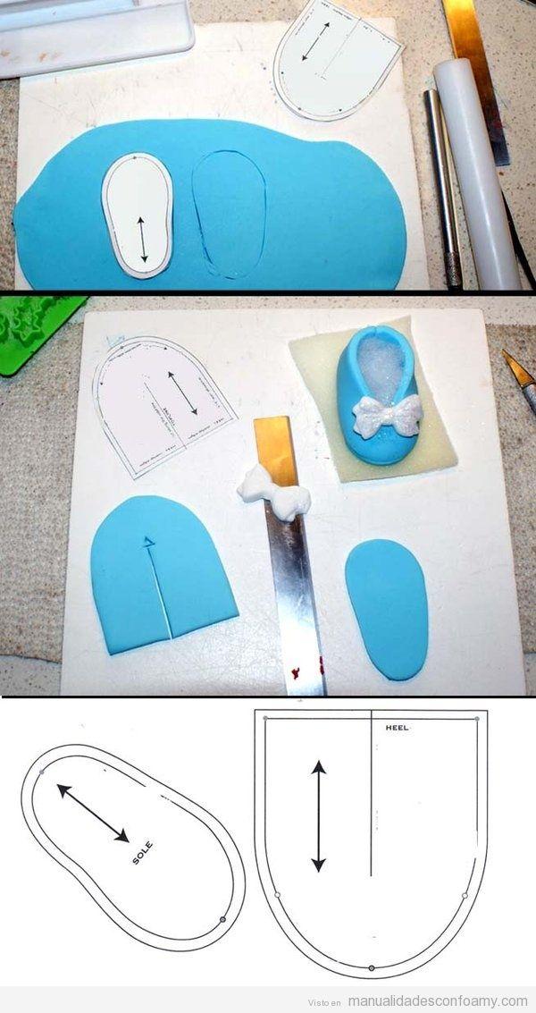 Zapato de goma eva para muñecas, tutorial y plantilla • Manualidades ...
