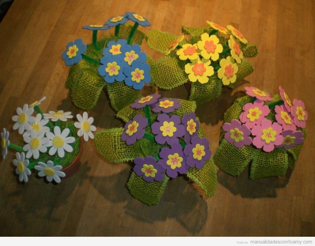 Ramos de flores de goma eva