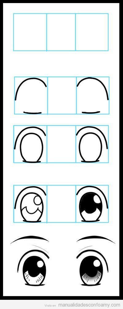 Tutorial paso a paso para dibujar los ojos de muñecas fofuchas goma eva