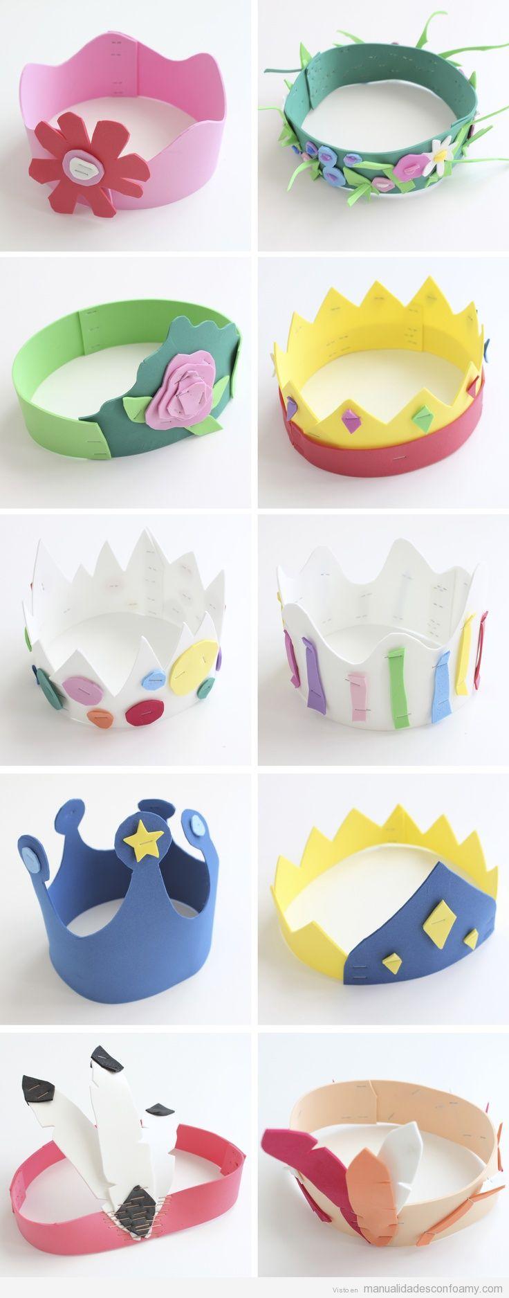 Coronas de princesas en goma eva una idea genial para una for Decoracion infantil goma eva