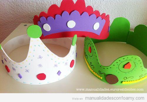 Coronas de cumpleaños en goma eva