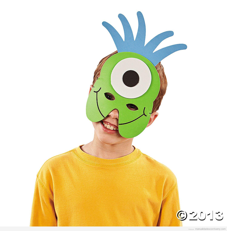 Máscara de goma eva de Mike de Monstruos SA