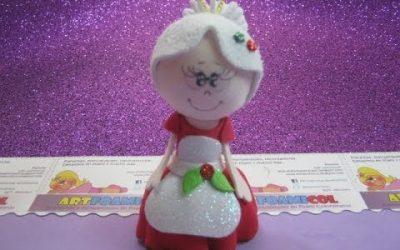 Videotutorial para hacer una muñeca fofucha de la mujer de Santa Claus o Mamá Noel