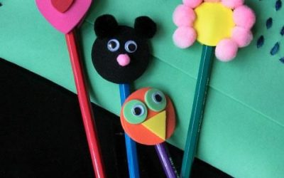 Adornos de lápices en foamy, manualidad para niños