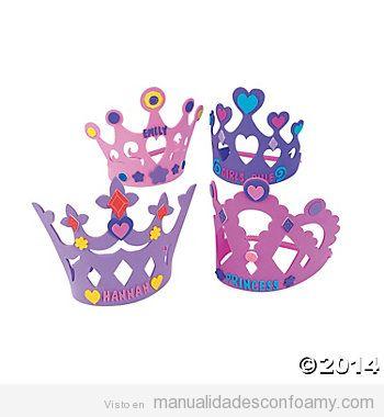 Coronas de goma eva para cumpleaños infantiles