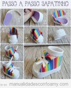 Tutorial para aprender a hacer botas de goma eva