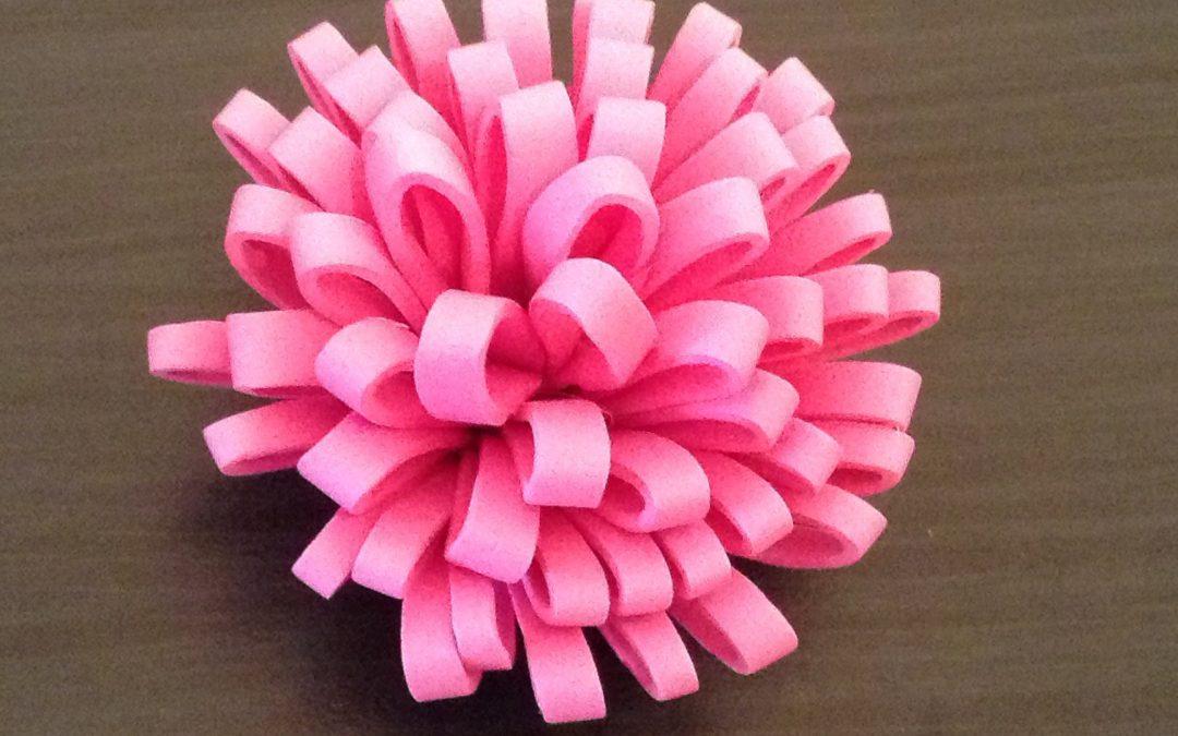 C mo hacer una flor de goma eva estilo pomp n videotutorial manualidades con foamy - Flores sencillas de goma eva ...