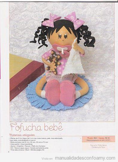 Patrón gratis para hacer una Muñeca Fofucha Bebé