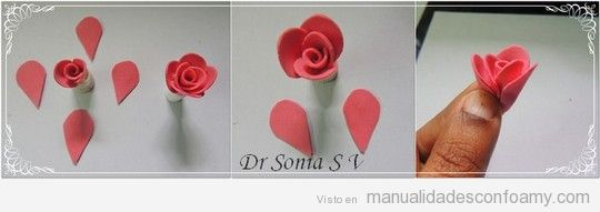 Tutorial para aprender a hacer rosa de goma eva 4