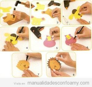 Tutorial para aprender a hacer animales de goma eva