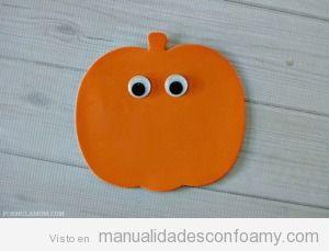 Tutorial Manualidades goma eva, calabaza Halloween 2