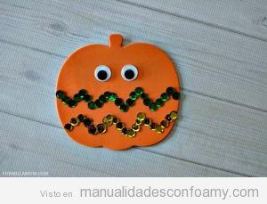 Tutorial Manualidades goma eva, calabaza Halloween 3