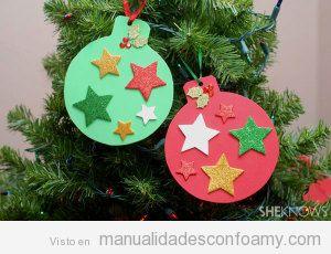 Adorno de goma eva para árbol de Navidad