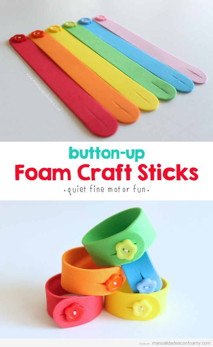 Pulseras de goma eva y botones manualidades f ciles para for Best glue for craft foam