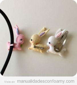 Manualidad forma conejo en foamy