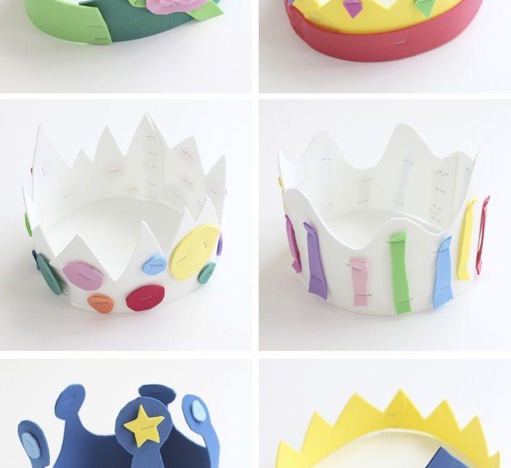 10 coronas de goma eva para disfraces y cumpleaños
