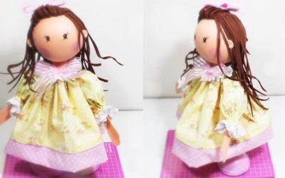 Cómo hacer una bonita y cuca muñeca fofucha de goma eva (videotutorial)