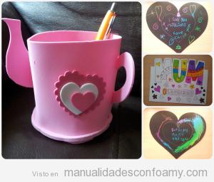 Manualidades goma eva Día de la madre, taza tetera