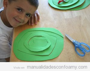 Manualidades fáciles para niños, serpiente goma eva 2