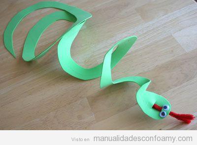 manualidades fciles para nios serpiente goma eva - Manualidades Faciles Para Nios