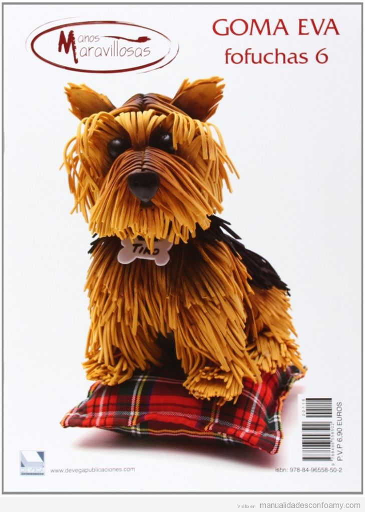 Manual y patrones perros goma eva, comprar online