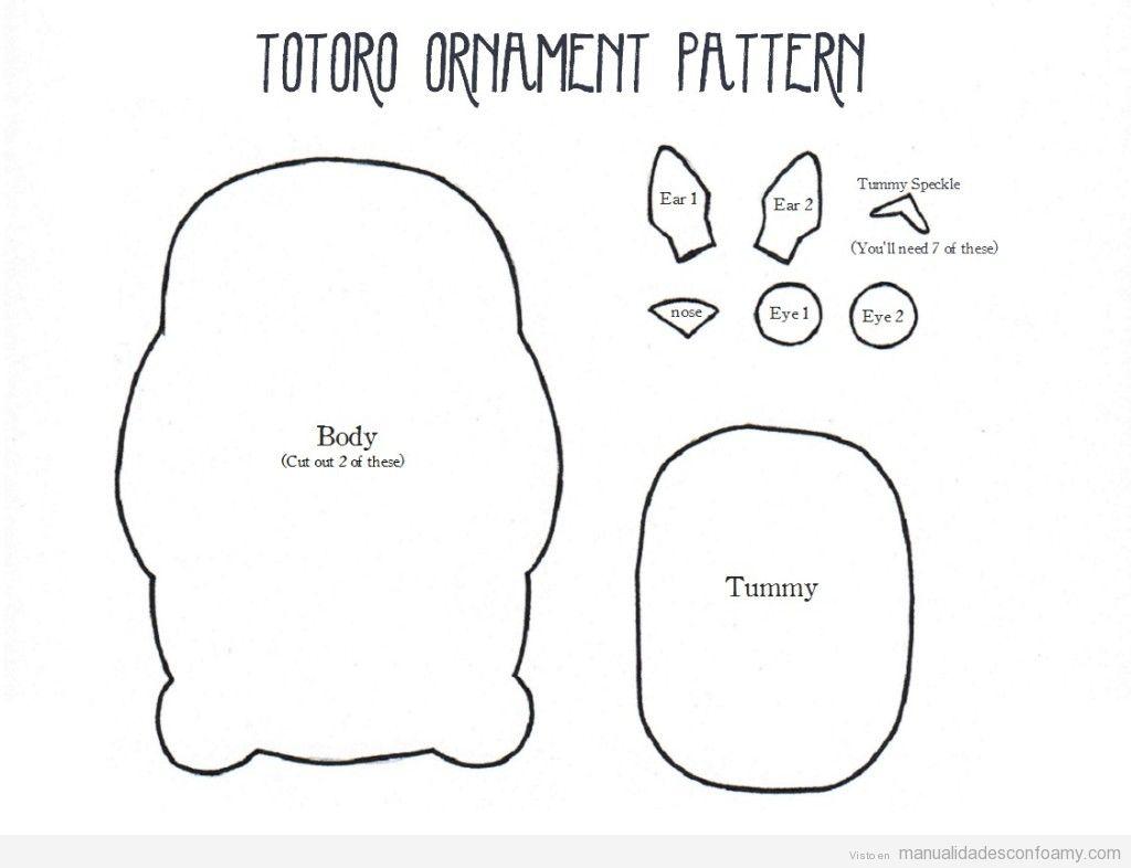 Patrón gratis Totoro