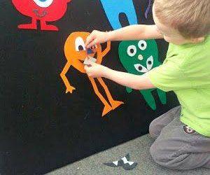 Monstruos de goma eva para jugar con los niños y niñas