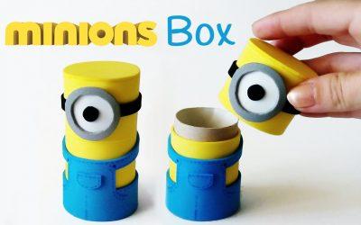 Muñecos Minions hechos con rollo de papel de WC y goma eva (Videotutorial)