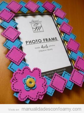 Marco fotos manualidades con foamy manualidades de - Marcos para fotos decoracion ...