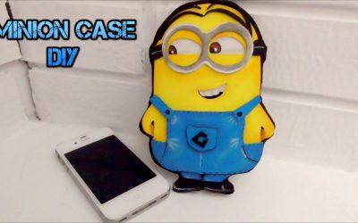 Funda para móviles con forma de Minion hecha con goma eva (videotutorial)